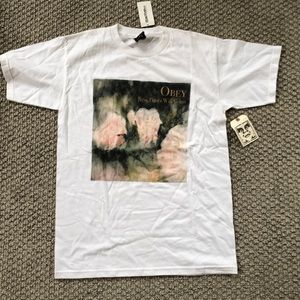 Obey white tee